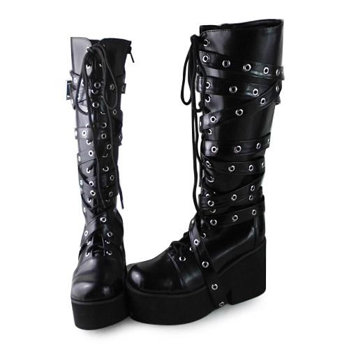 Здесь можно купить  Princess sweet lolita gothic cos shoes custom  lolita cos punk boots 1302  PU feather  Обувь