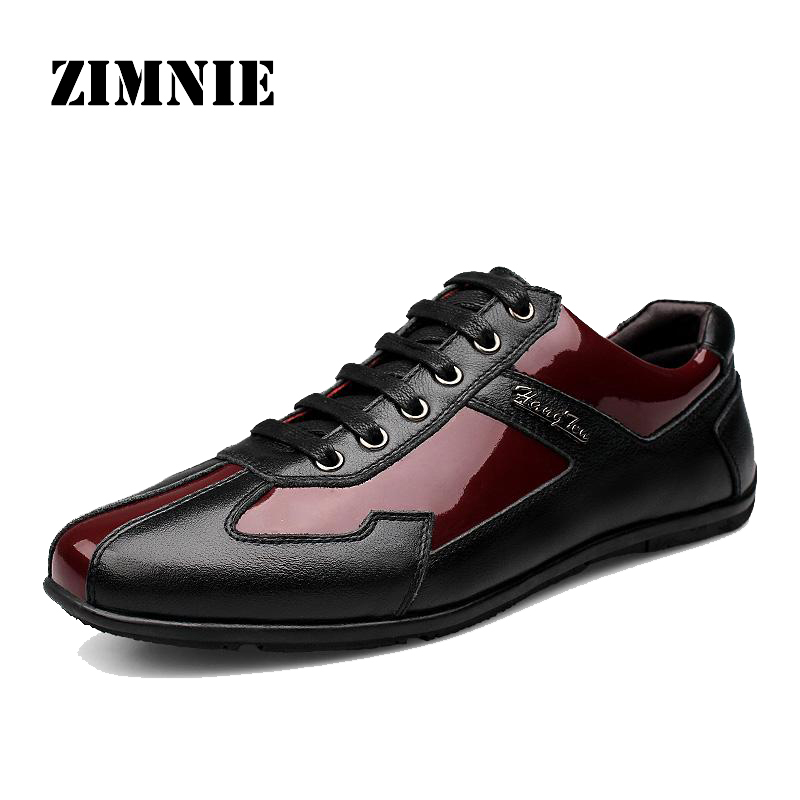 High Quality Autumn Winter Genuine Leather Men Shoes Fashion Shoes Men Casual Shoes Lace Up Men Flats Zapatos Hombre Sapatos