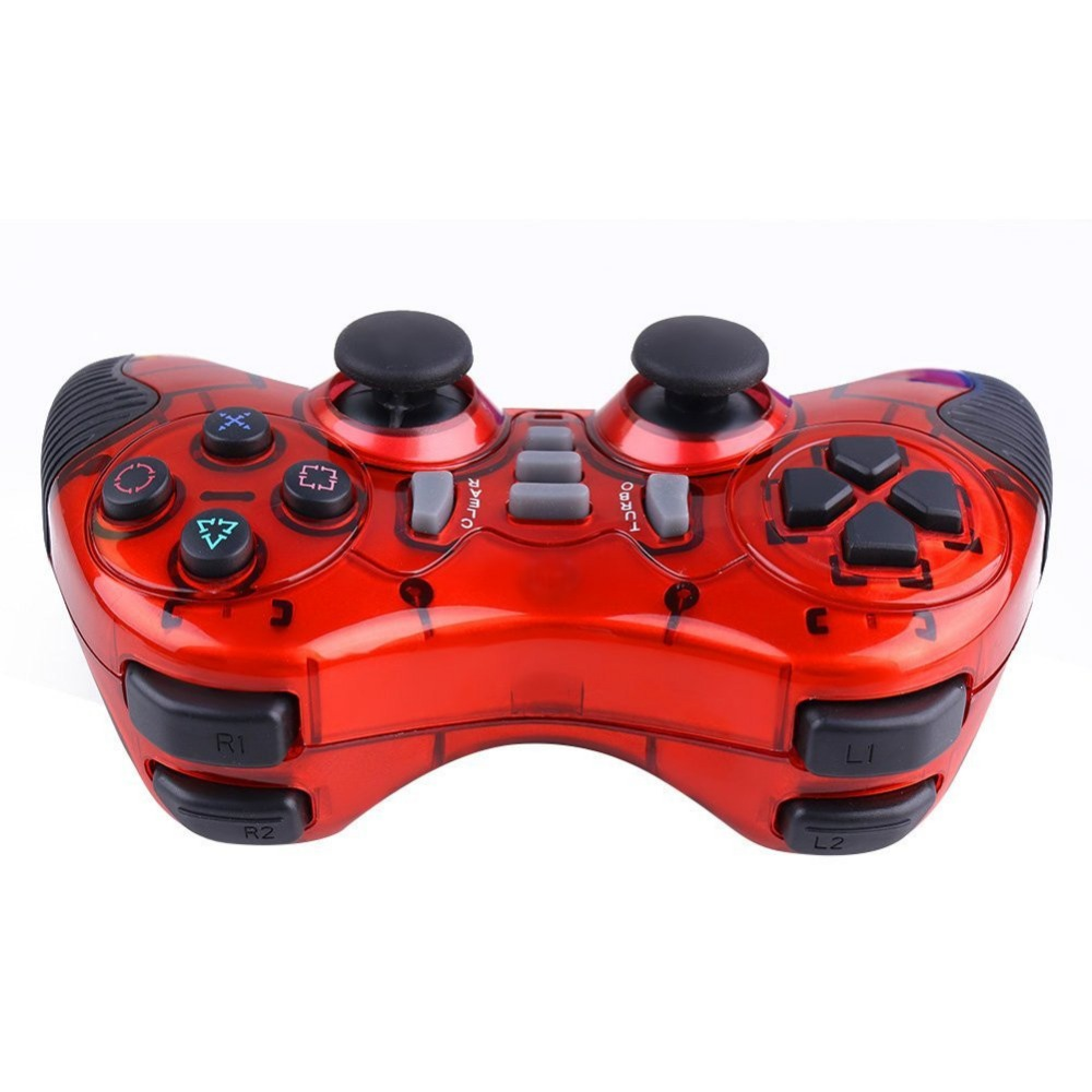 2016 ALP015 Double Shock joystick 2.4G Wireless Gamepad for PC PS2 PS3 Android TV Box + Gift Rocker Cap Wireless Game Controller(China (Mainland))