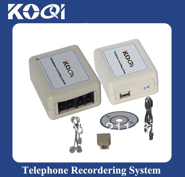 DHL Free Shipping free 4 CH USB Telephone Recorder KQ-U04 Phone Recorder(China (Mainland))