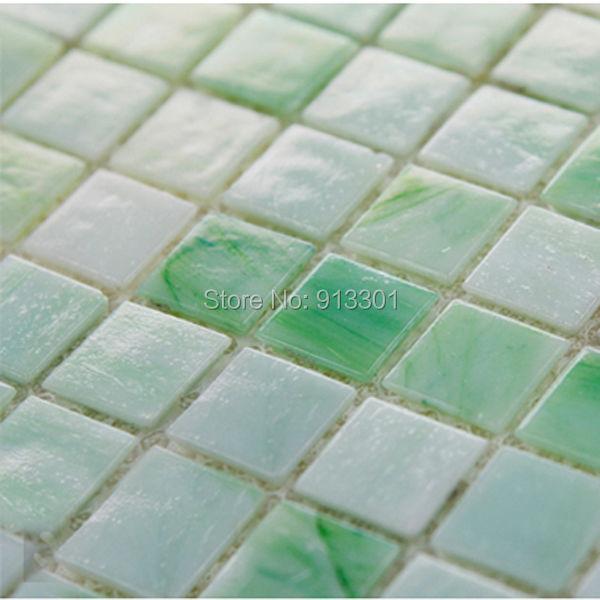 Grün Glas Mosaik Fliesen Blätter Werbeaktion-Shop für ...