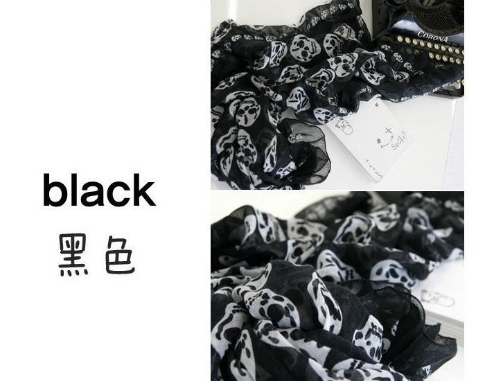 Autumn and winter skull scarf scarf shawl wholesale skull scarf(China (Mainland))
