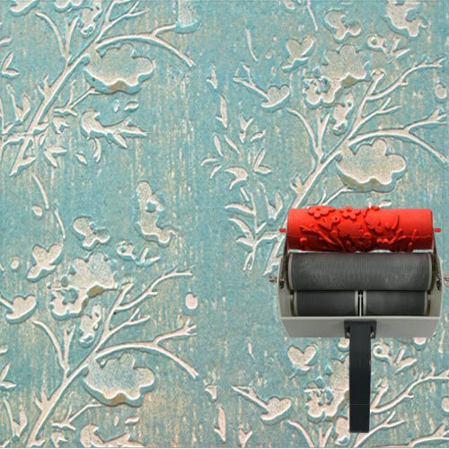Painting rubber roller liquid wallpaper for wall for Wall painting utensils
