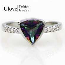 Mystic Topaz Jewelry Silver Ring 925 Korean Wedding Rings CZ Diamond Jewellery Anel Feminino Ruby Jewellery
