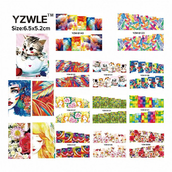 WUF 49 Sheets DIY Decals Mix 49 Different Designs Nails Art Water Transfer Printing Stickers Accessories For Nails Salon