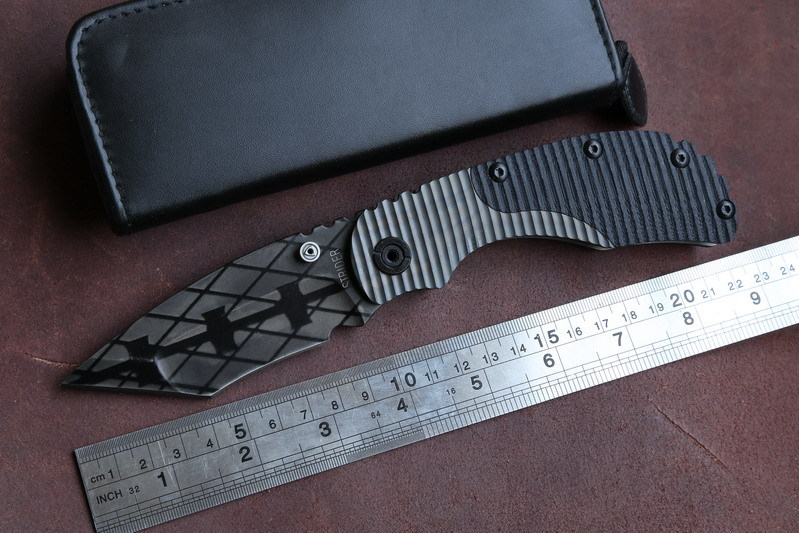 STRIDER RC Folding Knife Titanium+G10 handle D2 blade camping Tactical hunting outdoor survival Combat Knives Multifunction tool(China (Mainland))