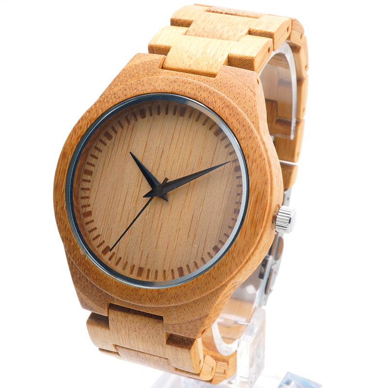 New Mens Luxulry Top Brand Design Watches Colorful Hour Hands Wood Wristwatches for Men Customized Bamboo Wooden Watches<br><br>Aliexpress