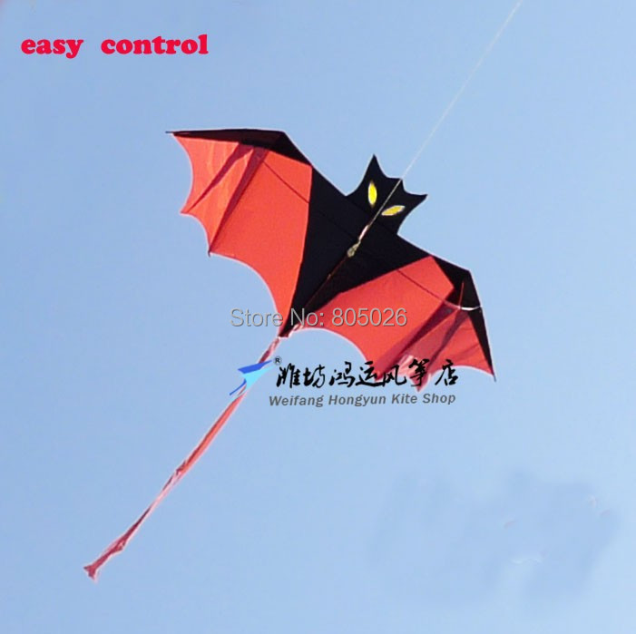 Free shipping high quality bat kite easy control with handle line children kite chinese kite sale nylon string outdoor toys(China (Mainland))
