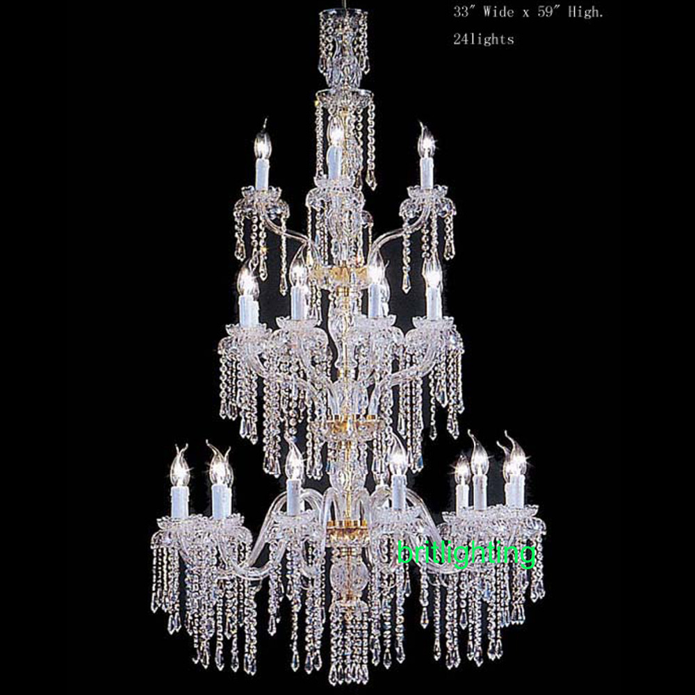 Modern Large Crystal Chandeliers For Hotels Bohemian Crystal Chandelier Entry