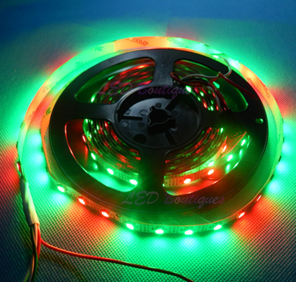 5X4M ws2812b 60led/M White PCB NON-Waterproof 5050 SMD RGB LED Strip,DC5V WS2811 IC Built-in Individually Addressable Color