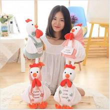 2016 Selling 40cm plush Doll Children Cockerel Couple Cute Dress Pastoral Chicken Doll Nursery Props Female Birthday Gift x62