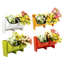 Buy Garden Pots Hydroponics Wall Hanging Resin Vertical Flower Pot Succulents Planter Stackable Home Plant Pot for $10.01 in AliExpress store
