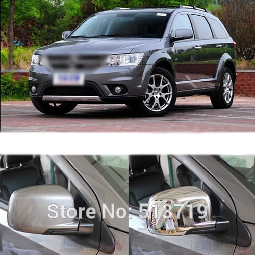 Free shipping for 2013 Dodge Journey Chrome Body Side Mirror Cover Trim Molding Exterior 2PCS(China (Mainland))
