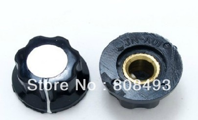 Knob For Standard Pots Black D 20mm H 12mm Hole 6mm