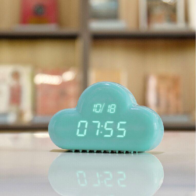 Creative Voice Alarm / clouds clock / children small bedside alarm clock / mute luminous electronic clock watch wall clock