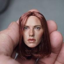 1/6 Head Sculpt Avengers2 Captain America Black Widow Head Carving 3.0 Scarlett Johansson Head For 12″ Action Figure Accessories