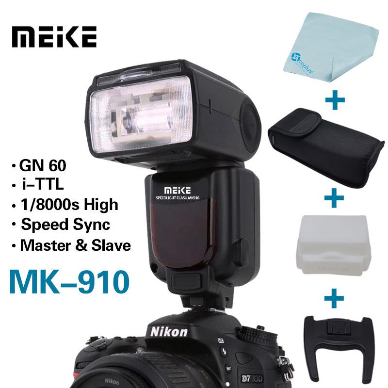 Meike MK-910 MK910 i-TTL 1/8000s HSS Sync Master & Slave Flash Speedlight for Nikon SB-910 SB-900 D7100 D800 D750 D600 DSLR(China (Mainland))