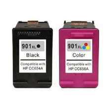 2PK Ink Cartridge For HP 901 XL 901XL Black & Color Ink Cartridges 901 XL For HP Printer