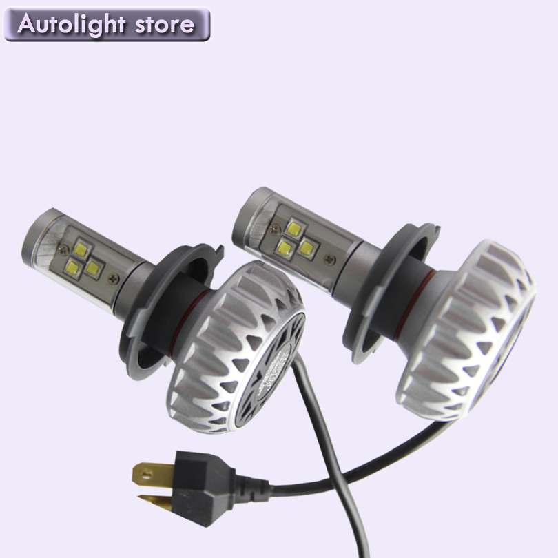 2PCS Small size 6000LM 60W H4 Auto 3 LEDs Car Headlights Bulb Hi/Low Beam 6000K Lamp All in One desgin Waterproof DC12-24V(China (Mainland))