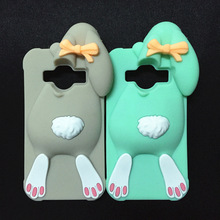 3D Cartoon Bunny Back Cover Case Samsung Galaxy Core Prime G360 G360H G3606 G3608 G3609/J1 Ace J110 Rabbit Silicon case - International Fashion Goods Stores store