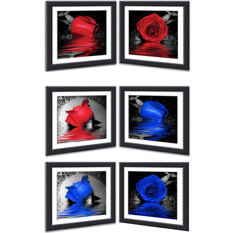 Nova 5D Diy Pintura Diamante Rosa Vermelha Charme Azul Enchantress Ponto Cruz Rodada Strass Bordado Patchwork 30*30 CM(China (Mainland))