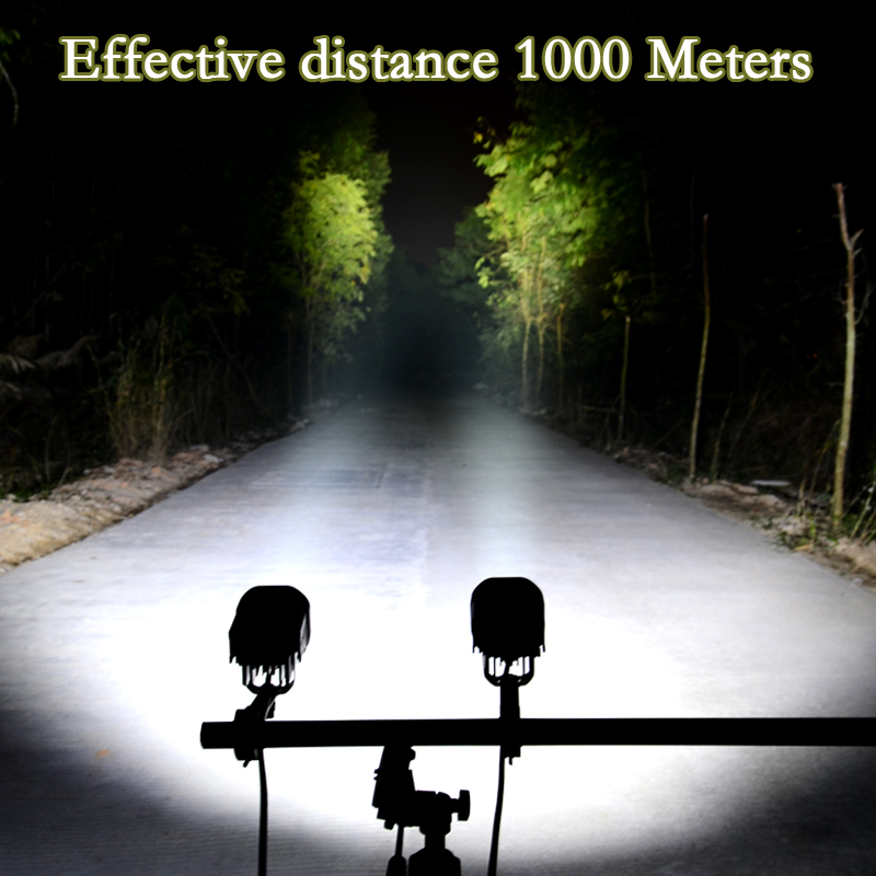 2PCS 40W Motorcycle Headlight 4200LM Motorbike new REALLY U3 LED Moto Driving Fog Spot Head Light with Mounting clamps