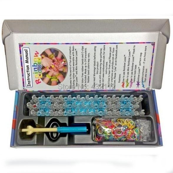 Loom Kits Fun Loom Rubber Bands Kit DIY Bracelets Bangles Box Children Toy Gift Hot Popular Free Shipping(China (Mainland))