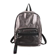 Блестящий женский рюкзак, золотые рюкзаки для девочек-подростков, модный школьный рюкзак в консервативном стиле на молнии, mochila XA1168H(China)