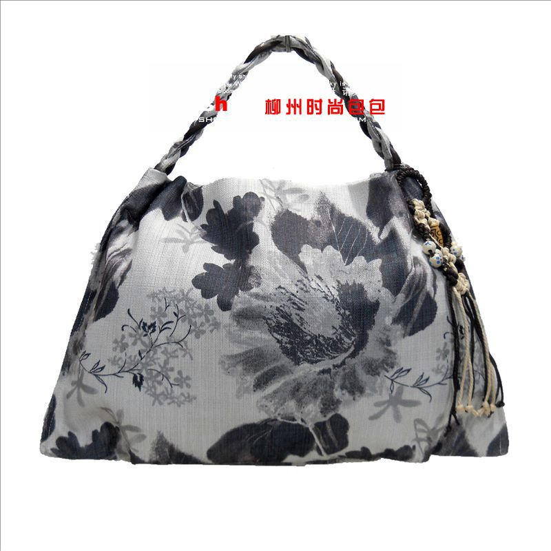 free shipping men bag bag grass cloth handbags big bag 2015 national wind Yunnan Art Ink poetic new shoulder bag 1571(China (Mainland))
