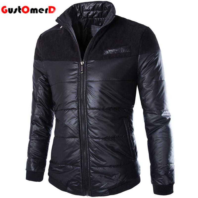 2016 New <font><b>Style</b></font> <font><b>Lightweight</b></font> Cotton Warm Parka Men High Quality Fashion Simple Black Plus Size M-5XL Mens Winter <font><b>Jackets</b></font>