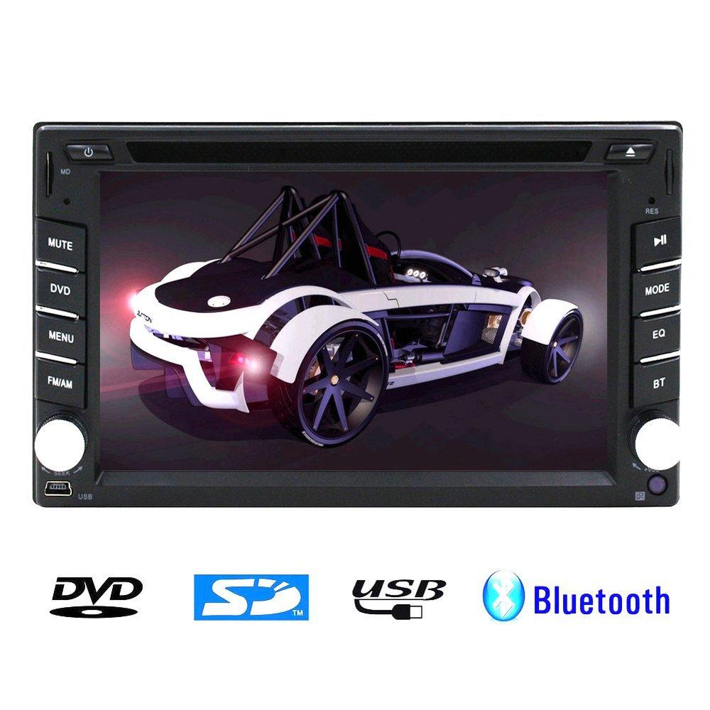 "Car Radio Double 2 Din 6.2"" Car DVD Player 6.2 inch BT Bluetooth DVD CD Player Mic MP3 MP4 Player USB SD In Dash Headunit Car PC(China (Mainland))"