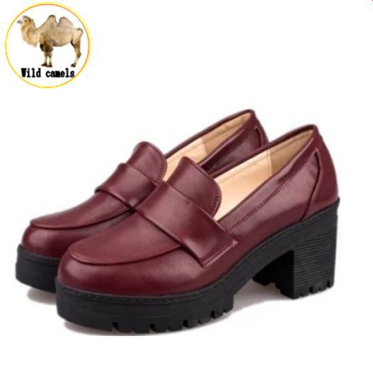 2015 NEW Thick with round head Students shoes Japanese school uniforms Japanese institute style COS joker universal<br><br>Aliexpress