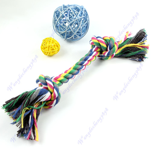 M126 Puppy Dog Pet Cotton Braided Chew Knot Toy Rope Playing Toy New Hot Fashion big size(China (Mainland))