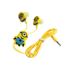 Despicable Me Minions Cartoon Earphone In-ear 3.5 mm Headphone Headset For MP3 MP4 Mobile Phone Cables With Earplug Cover EP338