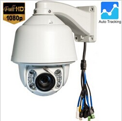 2016 New Outdoor 150M ir 2Mp 20x optical Auto Motion Tracking PTZ IP Camera with Audio and Alarm cctv ip camera(China (Mainland))