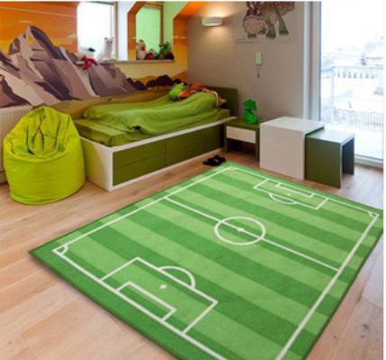 boys bedroom floor play mat fun children rug carpet football field 100