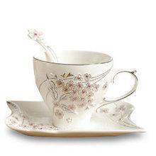 FORSUNA CERAMIC COFFEE CUP SET WITH SPOON EUROPEAN CREATIVE DIAMOND MILK CUP COFFEE PLATE