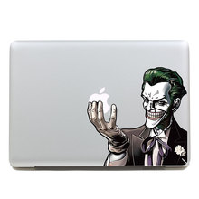 Removable DIY Funny colorful big tooth gentleman joker tablet sticker and laptop computer sticker for macbook Pro 15,260x270mm