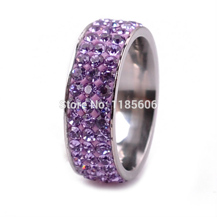 2014 new stainless steel rings women charms jewelry mens tail 3 rows Wedding - CRYSTAL BEADS store