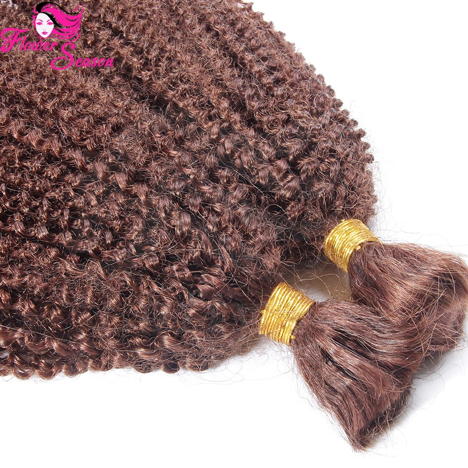 Best Quality 8A Grade Mongolian Afro Kinky Human Hair For Braiding 100 Bulk Human Hair No Weft