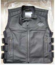 Men's motorcycle leather vest 97108(China (Mainland))