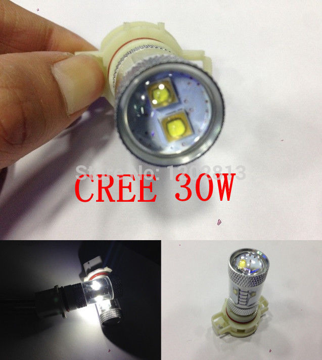 Free shipping 2Pcs Cree 30W Ps19w PS24W H16 High Power LED Facelift For AUDI A3 S3 8P CanBus Lampen Car(China (Mainland))