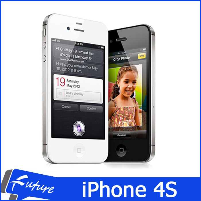 "Original Apple iPhone 4S I4S Dual Core 16GB/32GB IOS 8 3G WCDMA Smartphone Mobile Phones WIFI GPS GPRS 8MP 1080P 3.5"" Unlocked(China (Mainland))"