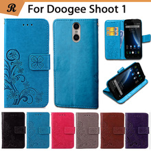 Buy Newest Doogee Shoot 1 Factory Price Luxury Cool Printed Flower 100% Special PU Leather Flip case Strap for $4.28 in AliExpress store
