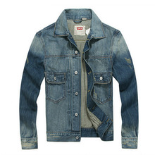 Free Shipping New Style Men's Fashion Denim Jacket Outerwear Casual Vintage Long Sleeve Jeans Jackets Male Clothing K 622(China (Mainland))
