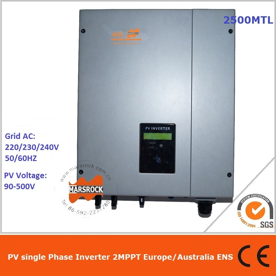 2500W grid tie inverter 2 MPPT for solar power system available for Germany, Austria, France, UK, Switzerland, Italy, Spain etc.(China (Mainland))