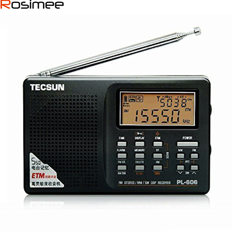 Tecsun PL606 Full-band Digital PLL Portable FM Stereo/LW/SW/MW DSP Receiver Radio modulator Radio(China (Mainland))