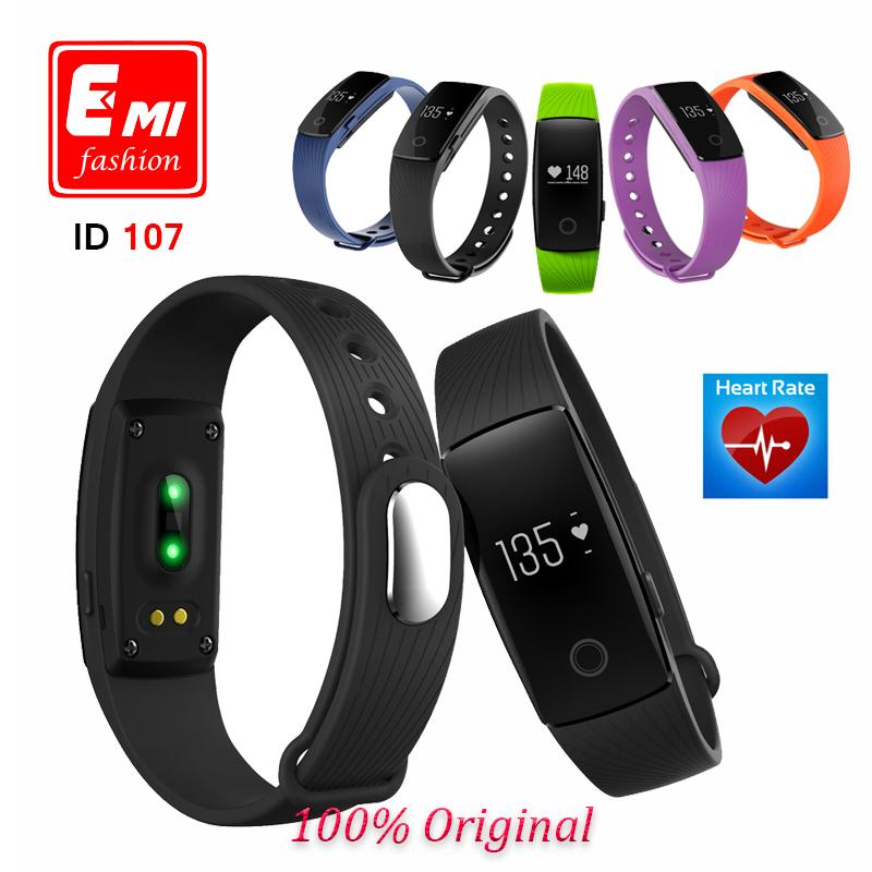 ID107 smart band Bluetooth 4.0 SmartBracelet Heart Rate Monitor Wristband Fitness Tracker smartband for Android iOS PK mi band 2(China (Mainland))