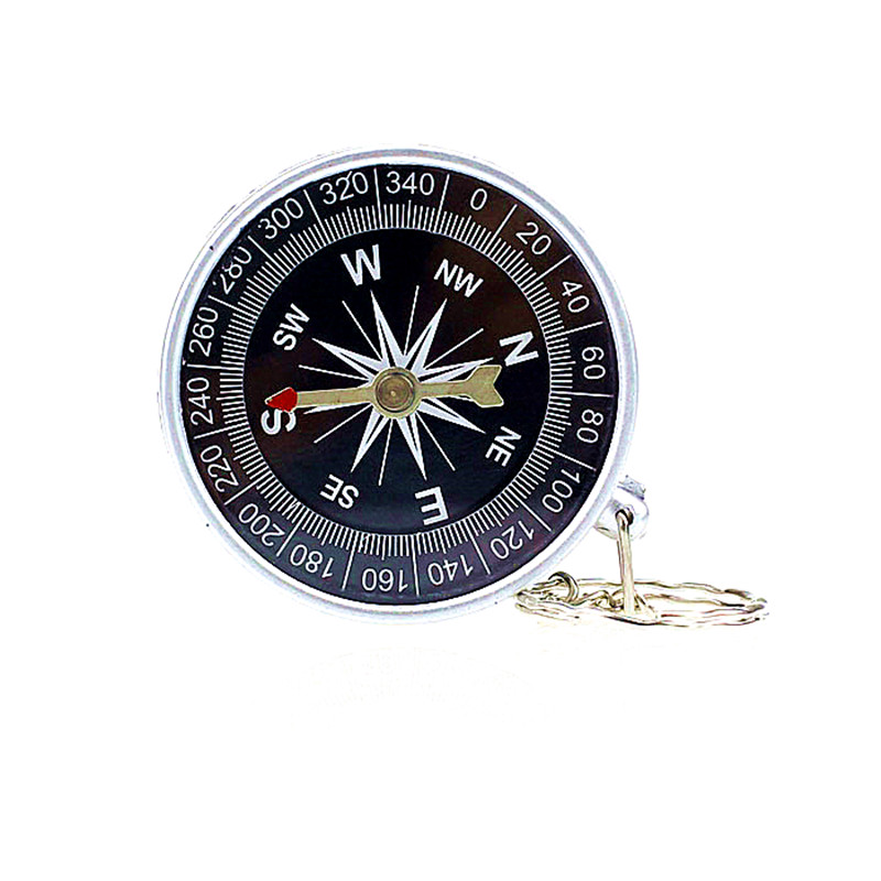 Lightweight Keychain Outdoor Camping Plastic Compass for Hiking Hiker Navigation tool Camping Military Navigator Equipment #WF34(China (Mainland))