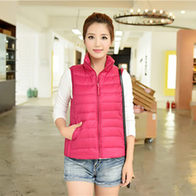 Ultralight Woman slim White Duck Down Jacket Winter Outdoor Sport Duck Down Coat Waterproof Down Parkas Outerwear Vest